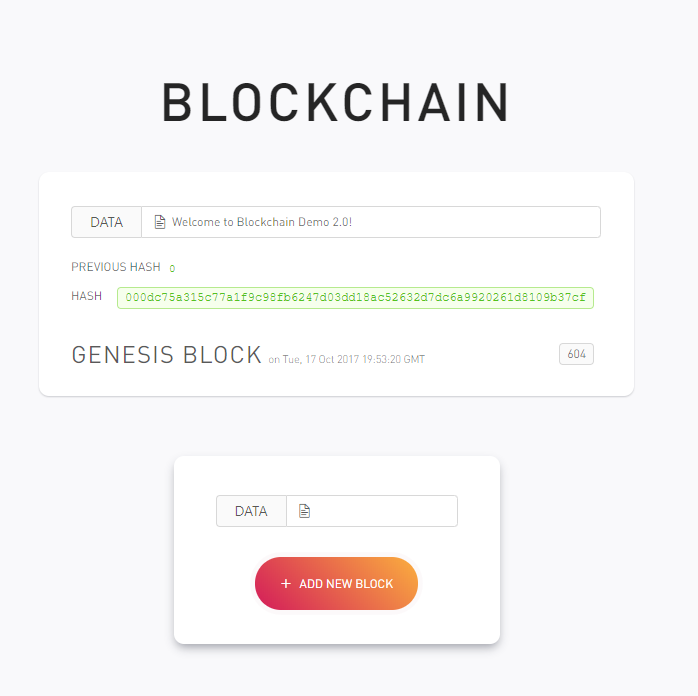 blockchain demo