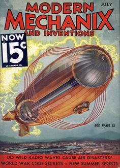 modern mechanics blimp cover